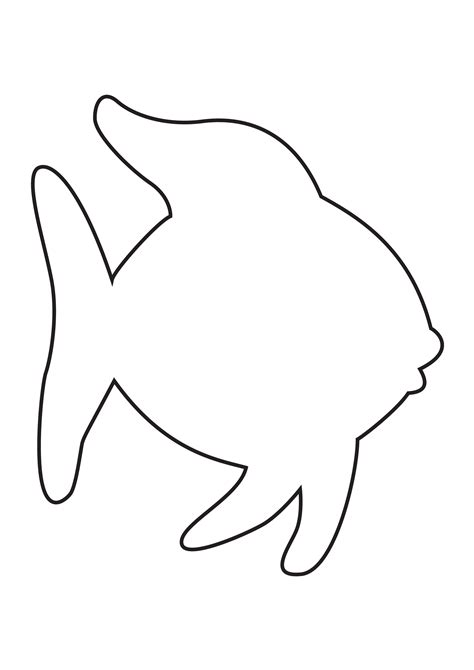fish coloring template fish template clipart best