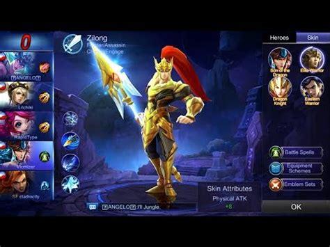 mobile legends zilong awesome game elite warrior skin