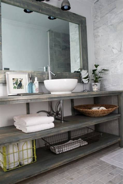 Industrial Bathroom Storage 32 Trendy And Chic Industrial Bathroom Vanity Ideas Digsdigs