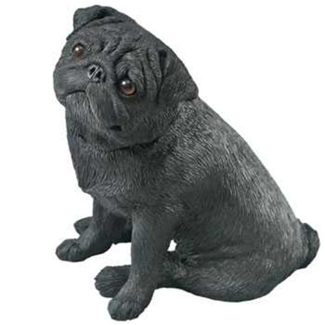 black pug figurine black pug figurine sandicast 174 ms483 mid size at anwo animal world 174