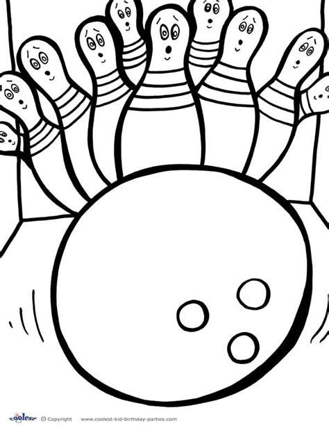 coloring pages bowling balls pins printable bowling coloring page 4 coolest free