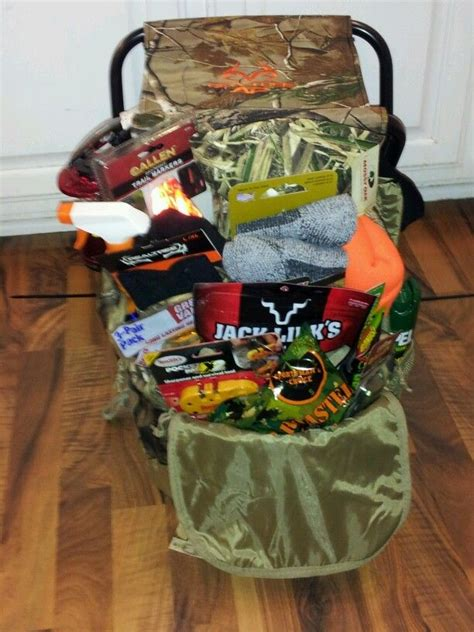 themed birthday baskets hunting basket idea for raffle camo backpack zip tied to