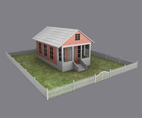 home 3d modeling cottage house 3d model mb fbx