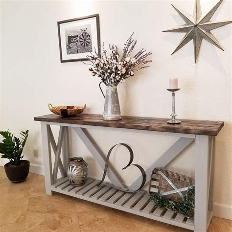 rustic consoleentryway table decor rustic console