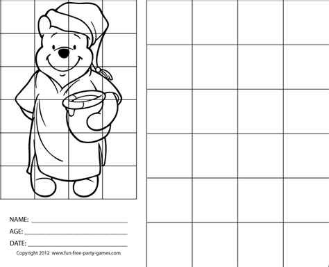 grid drawings templates drawing with grids cake ideas and designs