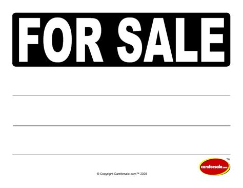 update 19725 printable car for sale sign template 17