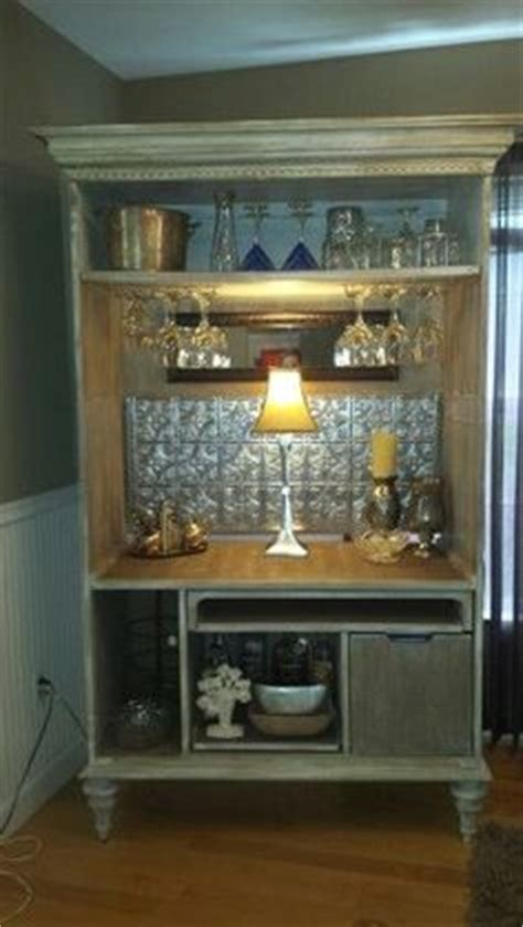 upcycled tv armoire my coffee bar from entertainment center to make