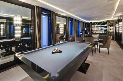 playing tables   modern gaming room pool table