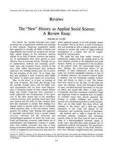 Scientific Essays by The New History As Applied Social Science A Review Essay Springer