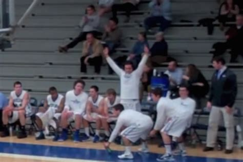 basketball bench celebrations the colby college mules are the national chions of