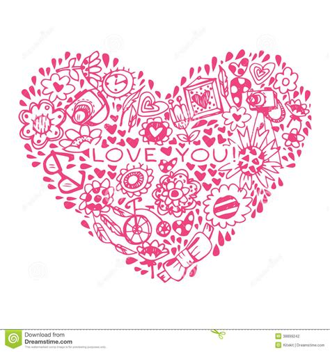 heart love pattern template for design romantic greeting
