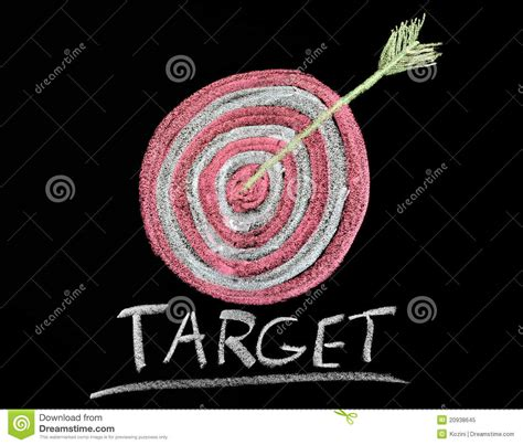chalk paint target target on a chalkboard royalty free stock photo image