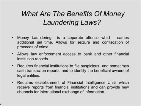 What Is Advantage Of Mba by Money Laundering Presentation