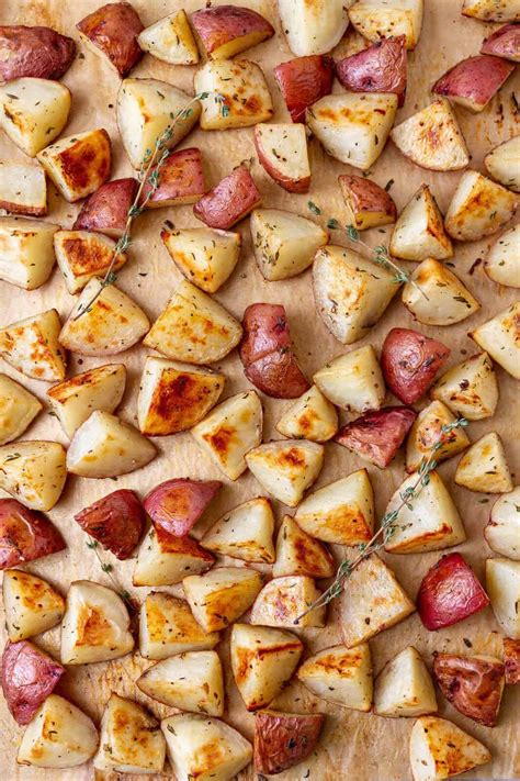 easy oven roasted red potatoes  simple veganista