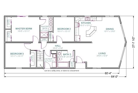 Ranch Style Home Floor Plans With Basement by 21 Wonderful Basement Floor Plans For Ranch Style Homes