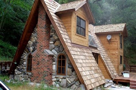 A Frame Cottage by Unique A Frame Cabin With Stone Brick And Wood Tiny