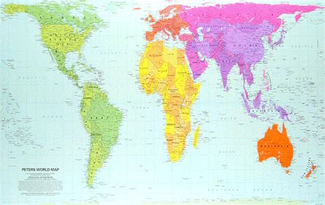 World Map 8 5 X 11 by Peters 11 Quot X 17 Quot Laminated World Map Peters 8 5 Quot X11