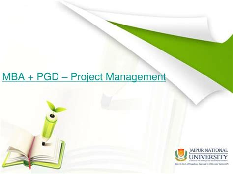Project Management Ppt For Mba by Ppt Mba Pgd Project Management Powerpoint Presentation