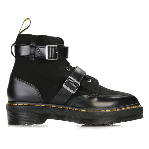 docs boots dr martens womens black masha creeper ankle boots leather