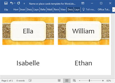 Place Cards Template Microsoft Office by Printable Place Cards Template For Word