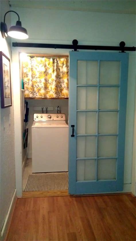 Laundry Room Barn Door Makeover Farmhouse Laundry Barn Door Laundry Room