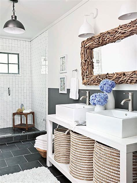 nautical living with navy blue white natural textures 154 best coastal bathrooms images on pinterest coastal