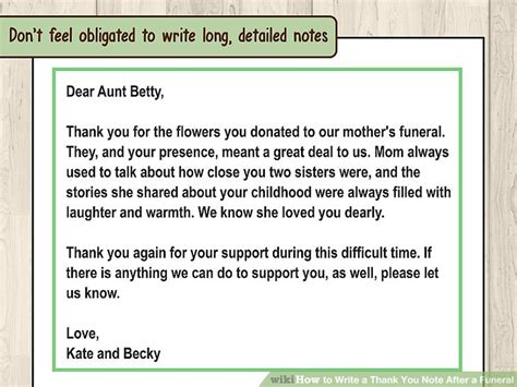 thank you letter after funeral for newspaper how to write a thank you note after a funeral 11 steps