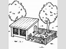 Chicken Coop Clipart Black And White