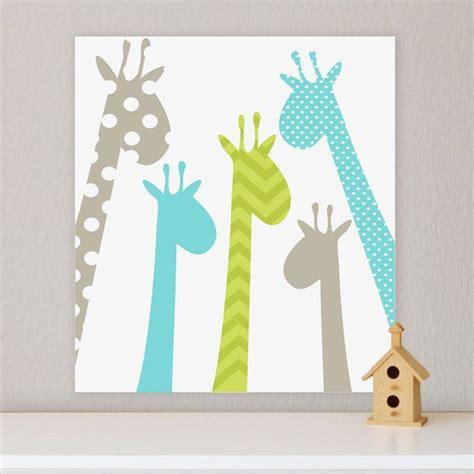 Giraffe Children S Wall Art Nursery Wall Art Giraffe Giraffe Decor For Nursery