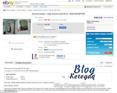 Cermin Malang cermin berhantu dilelong dalam ebay ketegaq