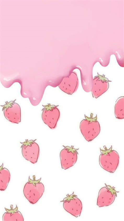kawaii wallpaper pink fresas wallpapers wallpaper kawaii