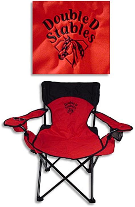 custom cing chairs custom embroidered folding chairs embroidered aluminum