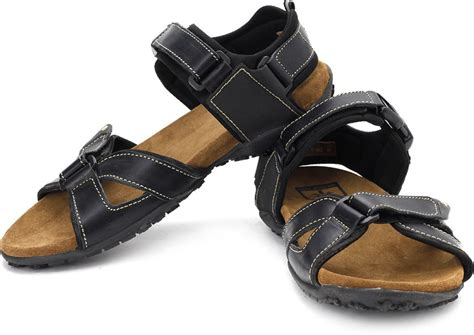 woodland leather sandals woodland leather sandals buy black color woodland