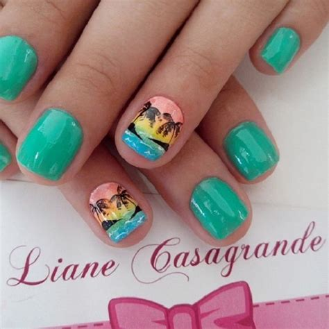 subtle nail designs women in there 40s 40 palm tree nail art ideas jewe blog