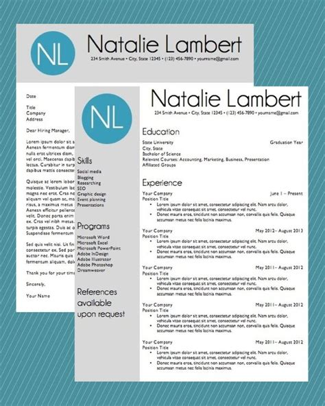 Resume Template Word Document Download Modern Monogram Free Monogram Resume Template