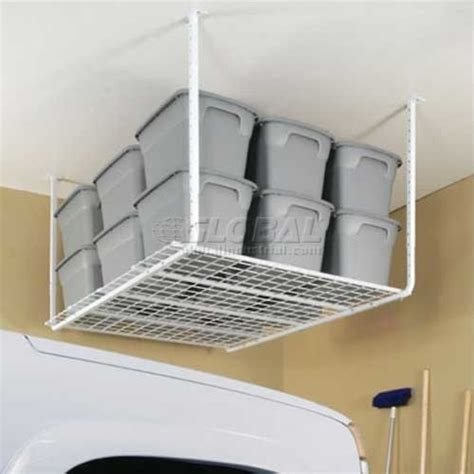 ceiling mounted shelves adjustable 30 40 heavy duty ceiling mounted shelf storage system industrial garage and tool