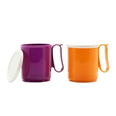 Daftar Gelas Tupperware jual tupperware jumbo mug with tutup ungu kuning
