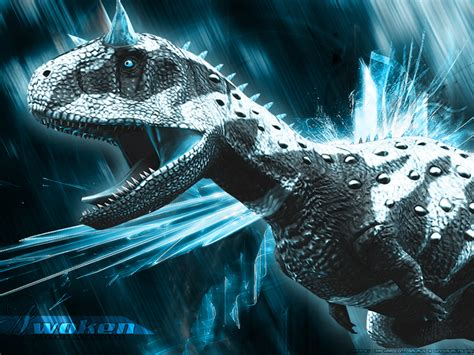 dinosaur king trading card template photoshop awakened carnotaurus wallpaper by guildedwings on deviantart