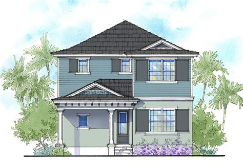 Two Story Florida House Plans by Handsome Two Story Florida Home 33159zr Architectural