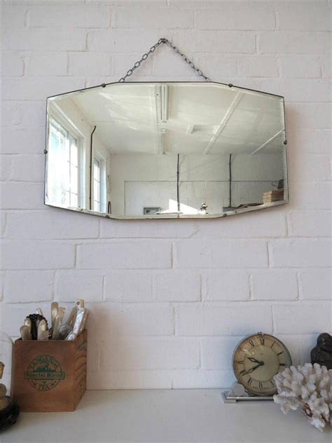 Sweater Mirrors Edge 01 vintage deco bevelled edge wall mirror or frameless mirror