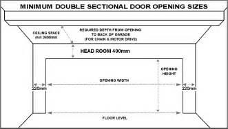garage door standard size