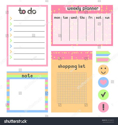 grocery list free printable template id 233 er template organaizer notebook planner do list stock vector