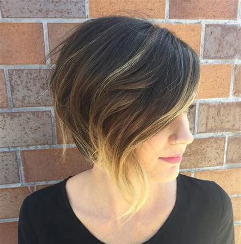 show me styling tips for layered ear length hair 40 chic angled bob haircuts