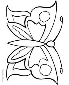 butterfly coloring sheet easy butterfly coloring pages button outline