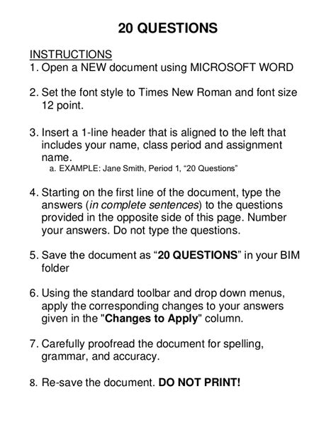 Or Questions For Word 20 Questions