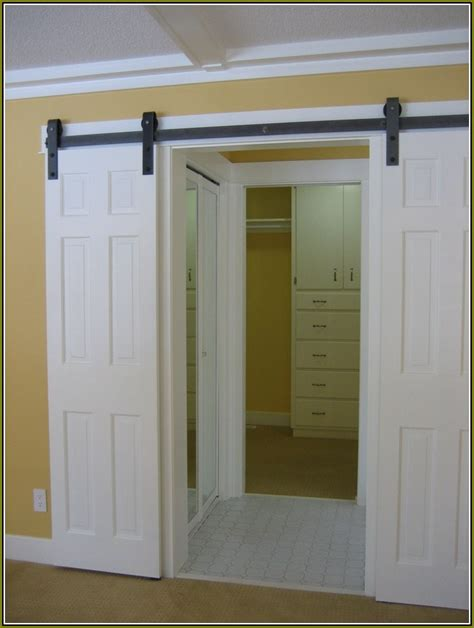 Closet Doors Bifold Home Design Ideas Hanging A Closet Door