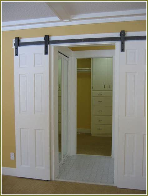 Hanging A Closet Door Closet Doors Bifold Home Design Ideas