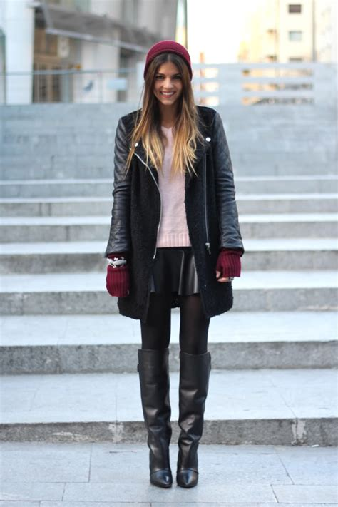 how to wear a skirt with boots
