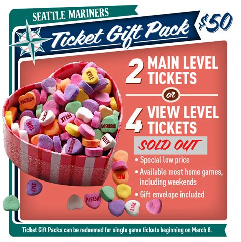 Mariners Gift Card - mariners ticket gift pack mariners com tickets