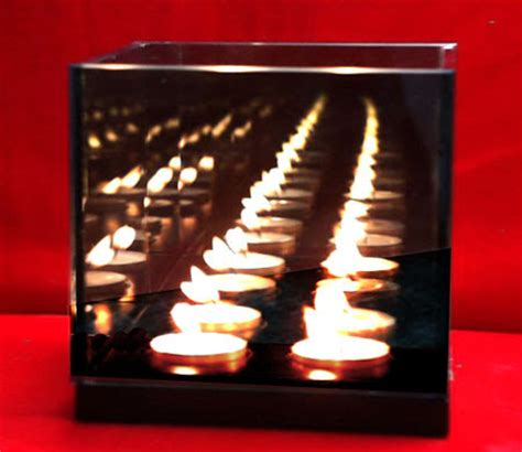 infinity candle mirror magic illusion infinity candle mirror box light 4